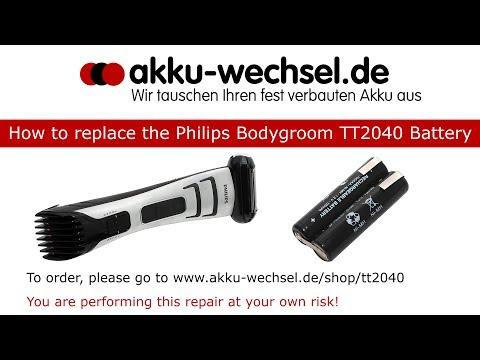 Akku-Wechsel beim Philips Bodygroom Series 7000 TT2040 Haarschneider