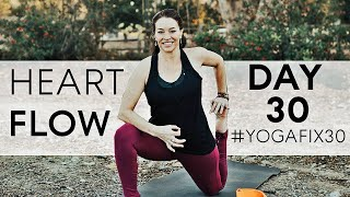 Video Heart Opening Flow...You DID IT!! Day 30 With Fightmaster Yoga MP3, 3GP, MP4, WEBM, AVI, FLV Maret 2018