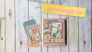 Hello everyone! I'm sharing another Recipe Folio today. This time I used the Graphic 45 Home Sweet Home collection. This collection is one of my favorites! Have a great day!
