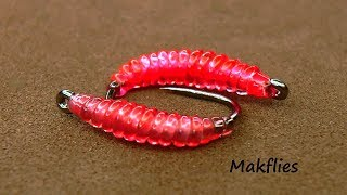 Fly Tying a Simple Pink Grayling Bug by Mak