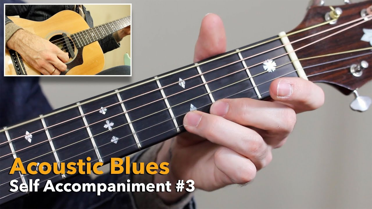 Acoustic Blues Guitar Lessons – Self Accompaniment Routine #3