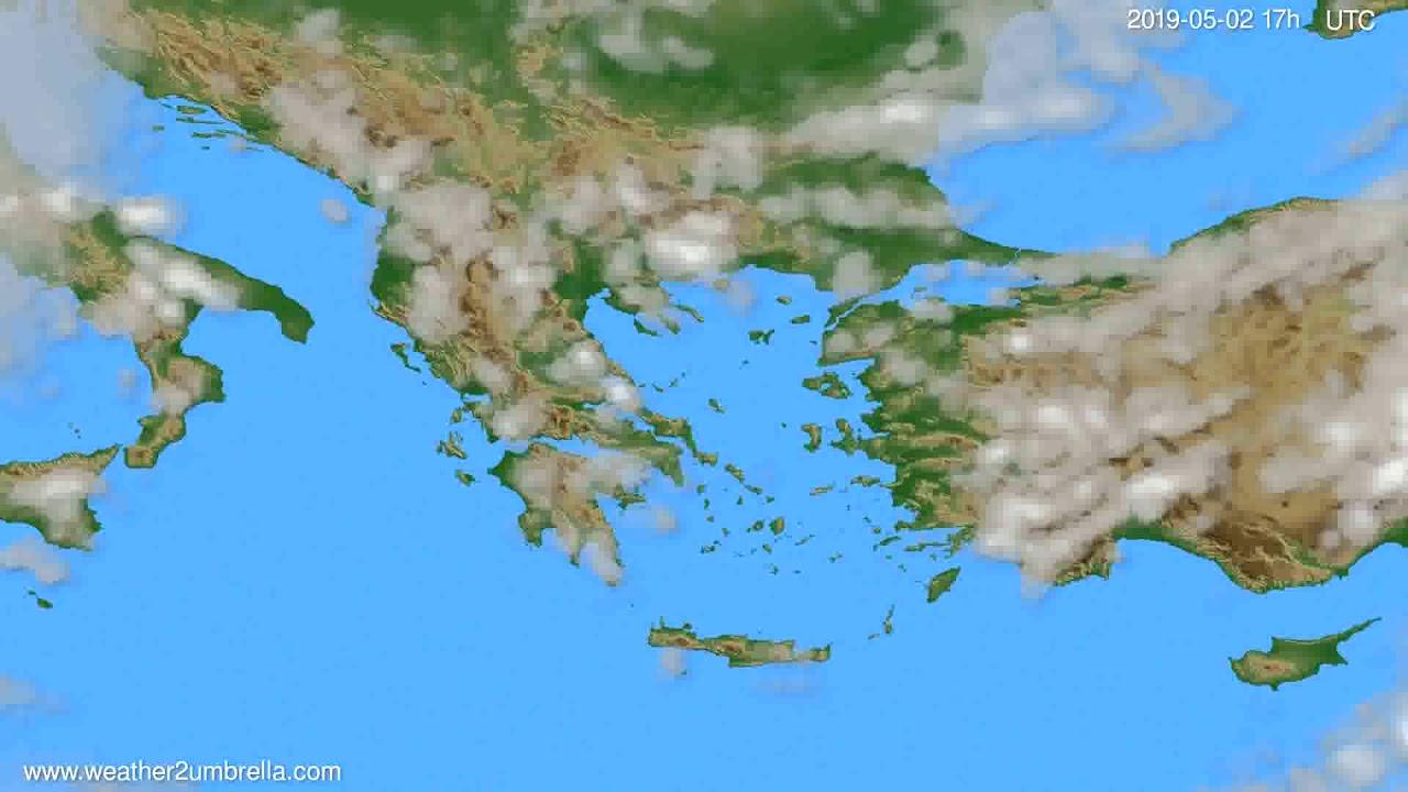 Cloud forecast Greece // modelrun: 00h UTC 2019-05-01