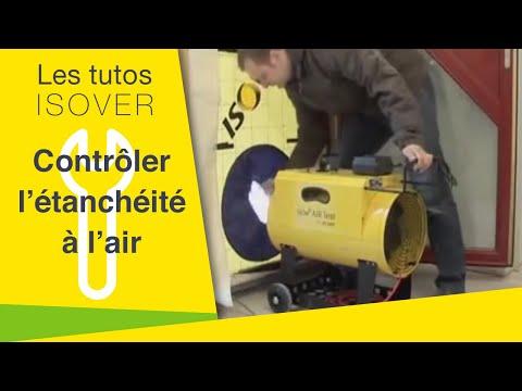 ISOV'AIR TEST, 1ère machine d'autocontrôle d'étanchéité à l'air