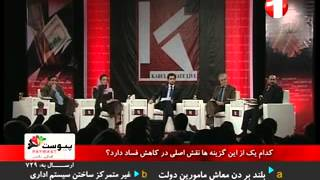 1TV KABUL DEBATE LIVE - CORRUPTION IN AFGHANISTAN EP6 - 20 02 2013 PART2
