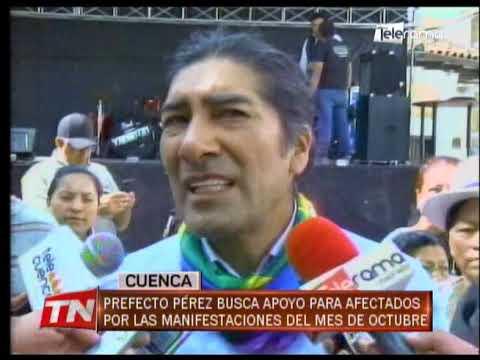 Prefecto Pérez busca apoyo para afectados por las manifestaciones del mes de octubre
