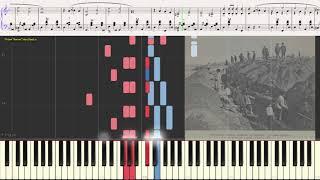 Тоска по Родине (Старинный марш) (Ноты, фортепиано, баян) (piano cover)