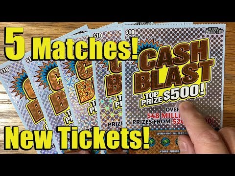 NEW TICKETS!! YES!! 💰 5X $10 Cash Blast! ✦ TEXAS LOTTERY Scratch Off Tickets