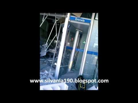 Vídeo flagra tiros de fuzil e pistola após assalto a Banco em Vianópolis