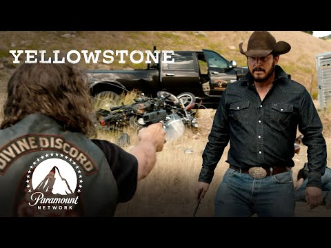 Ranch Hands & Bikers' Brawl | Yellowstone | Paramount Network