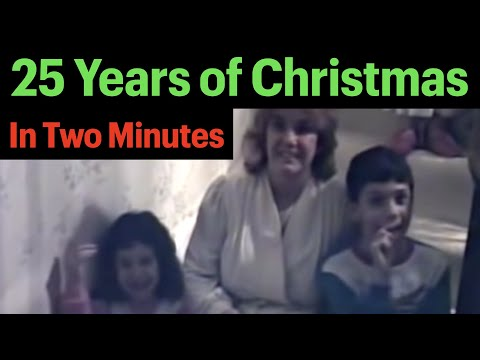 A Dad Videos His Kids On Christmas Morning…for 25 Years!