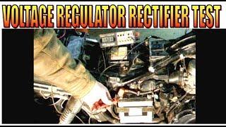 6. Motorcycle voltage regulator charging and rectifier test
