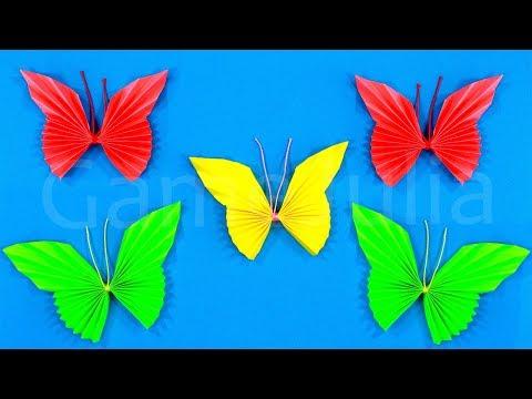 Как сделать из бумаг бабочку 51