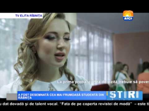 AICI TV  A FOST DESEMNATĂ CEA MAI FRUMOASĂ STUDENTĂ DIN RÂBNIȚA