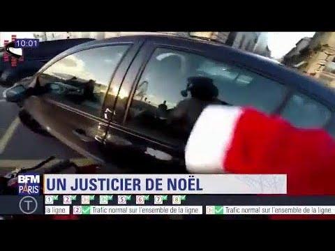 Délit de fuite : la folle course poursuite d'un père Noël à moto pour faire arrêter une voiture