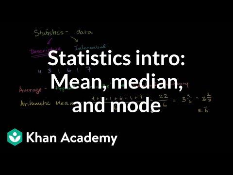 Probability and statistics: Descriptive statistics