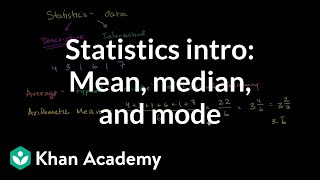 Statistics intro: Mean, median, and mode | Data and statistics | 6th grade | Khan Academy