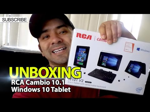 UNBOXING: RCA Cambio 10.1 Windows 10 Tablet