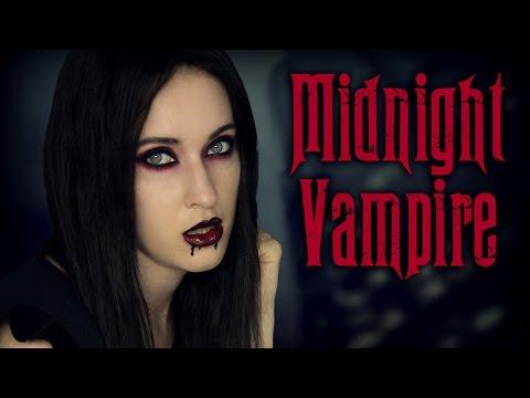 Tuto maquillage d'Halloween gothique et sombre ★ Oeil charbonneux de Vampire / Mortitia Addams