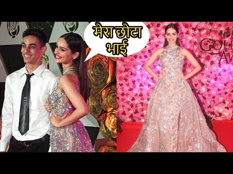 Miss World 2017 Manushi Chhillar With Her Brother at LUX Golden Rose Awards 2018