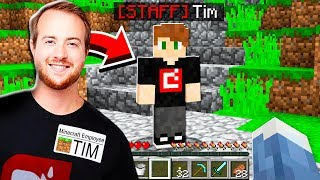 This FANS dad is a MINECRAFT EMPLOYEE! **SHOCKING**