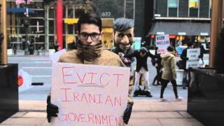 Street Theater At Iran UN Mission