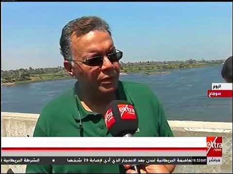 لقاء خاص مع الدكتور هشام عرفات وزير النقل اثناء تفقده انشاء كوبرى طما العلوى بسوهاج