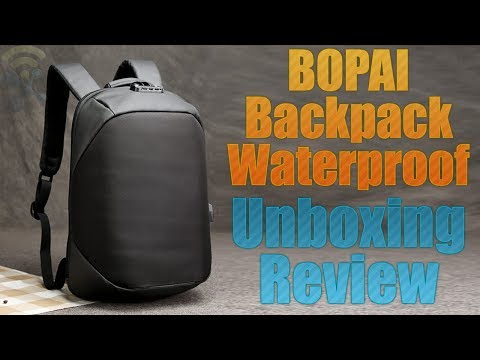 BOPAI Waterproof USB Charge Port Backpack Anti Theft Backpack : Unboxing & Review
