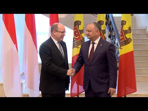 Igor Dodon, Președintele Republicii Moldova a avut o întrevedere cu Prințul Principatului Monaco, Albert al II-lea