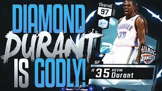 NBA 2K17 MYTEAM DIAMOND KEVIN DURANT GAMEPLAY! BEST SF IN THE GAME!