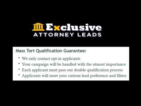 `Exclusive attorney leads mass tort tvm yaz bladder mesh lawyer lead generation