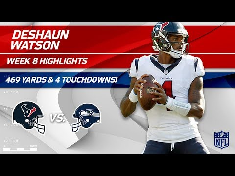 Deshaun Watson Shines w/ 469 Total Yards & 4 TDs | Texans vs. Seahawks | Wk 8 Player Highlights (видео)