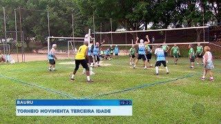 Torneio de vôlei reúne atletas da terceira idade em Bauru