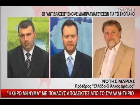 Nότης Μαριάς: Ηχηρό μήνυμα με πολλούς αποδέκτες από το Συλλαλητήριο για το Σκοπιανό