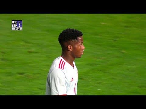 Ansu Fati Debut For Spain U-21 vs Montenegro  2019 HD 1080i
