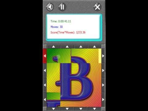 Video of SquareRoll - Alphabet