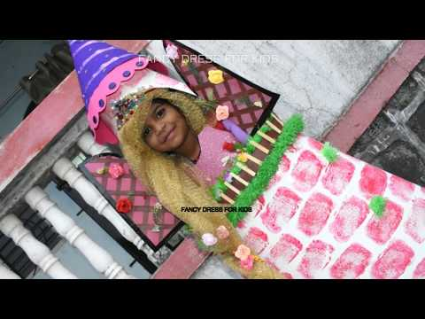 Rapunzel princess with castle/Desney character/fairy tale/fancy dress for kids/DIY