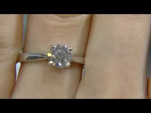 0.80ct Round Cut Diamond Solitaire Engagement Ring DR019