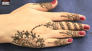 Easy DIY Jewelry Fingers Mehndi Designs  Romantic Mehendi For HandsLearn beautiful diy henna/mehndi design in this tutorial..its specially made for eid 2017 mehndi designs,diwali 2017 mehndi designs,bridal mehndi designs, and all party mehndi designs...I always try to make latest mehndi designs and new mehndi designs and simple mehndi designs for beginners...hope you all are doing well...So, here is my new and latest Mehndi design Tutorial for you all, do watch and enjoy..I upload most famous mehndi designs on youtube.I am best mehndi/henna designer in India.I make Arabic mehndi designs, indian mehndi designs,pakistani mehndi designs, intricate mehndi designs,mandala mehndi designs, ornamental,jewelry,gulf,egyptian,etc.., so you will find best  mehndi/henna designs on my channel, MehndiArtisticaThis Mehndi Pattern is for modern bride, its a full hand intricate mehendi design hope you guys will appreciate it :)if you have any request just comment down below... mail id : mehndiartistica@gmail.comFb Page: https://m.facebook.com/MehndiArtisticaInstgram: MehndiArtisticaproTwitter MehndiArtisticaYoutube : https://www.youtube.com/user/MehndiArtisticaClick For Best Mehndi CONES http://amzn.to/2bTRcqaLIKE My FB http://www.facebook.com/MehndiArtisticaMehndi Book http://amzn.to/2bTRcqaClick For Indian Bridal Saree/Wedding Sarees : http://goo.gl/CWw20Mehndi, the ancient art of painting on the skin with henna, beautifies the body, rejuvenates the spirit, and celebrates the joys of creativity and self-expression :)thanks love you all :)