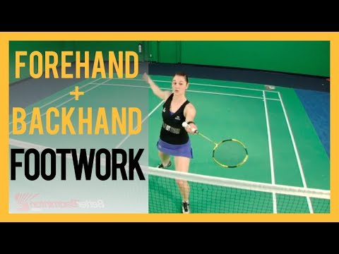 Badminton Footwork Lesson 01- Forehand and Backhand Footwork