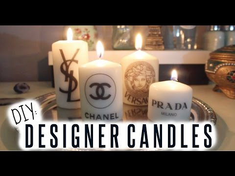 DIY: Designer Candles ♡