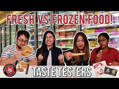 FRESH VS. FROZEN SINGAPOREAN FOOD | Taste Testers | EP 20
