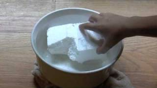 Styrofoam Dipped In Acetone