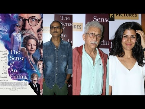 Naseeruddhin Shah & Nimrat Kaur At Special Screening Of Film The Sense Of Ending