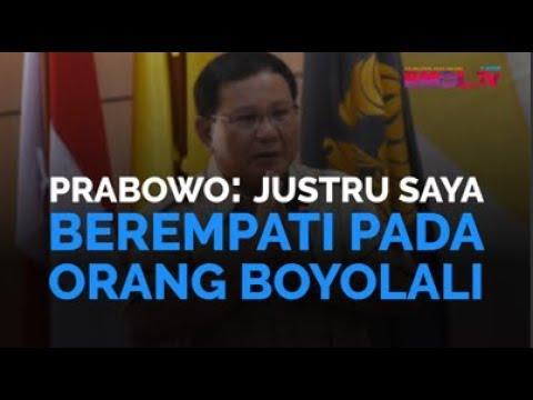 Prabowo: Justru Saya Berempati Pada Orang Boyolali
