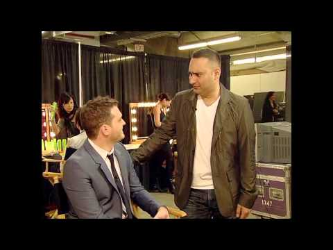 Russell Peters and Michael Buble Backstage at The 2009 JUNO Awards