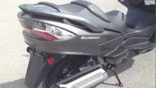 7. 2012 Suzuki Burgman 400 ABS in Gray and Black at Tommy's MotorSports