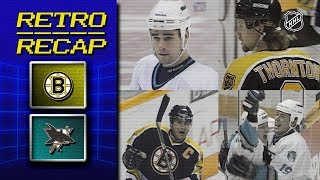 Marleau, Thornton battle as rookies | Retro Recap | Bruins vs Sharks | NHL by NHL
