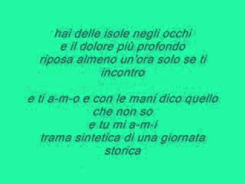 , title : 'Hai delle isole negli occhi - Tiziano Ferro Testo/Lyrics'