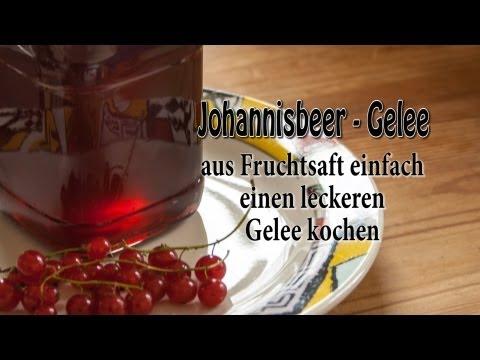 kochen - Hier zeige ich wie man Gelee aus Fruchtsäften kochen kann, am Beispiel von Johannisbeersaft Man benötigt zum Gelee kochen Gelierzucker entweder 1:1 oder 2:1 ...