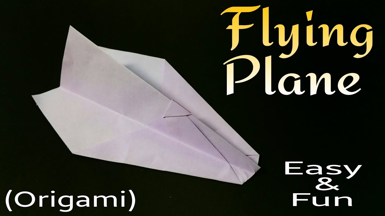 How To Make An Easy Paper Flying Rocket Plane Origami Tutorial For Beginners
